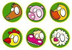 Ikone - gesetzte Farbe der Bauernhofikone stock abbildung