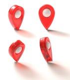 Ikone GPS-Kennzeichen Lizenzfreies Stockfoto