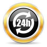 Ikone 24h Lizenzfreie Stockfotografie