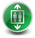Ikone, Knopf, Piktogramm-Aufzug, Aufzug stock abbildung
