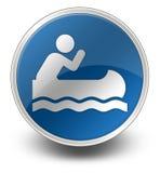 Ikone, Knopf, Piktogramm Canoeing stock abbildung
