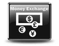 Ikone, Knopf, Piktogramm-Geldumtausch stock abbildung