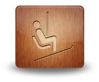 Ikone, Knopf, Piktogramm Ski Lift stockfoto