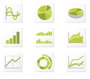 Ikone mit 9 Diagrammen Lizenzfreie Stockfotografie