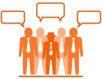 Ikone mit businessmans Team Lizenzfreie Stockfotografie