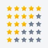 Ikone mit einen bis fünf Sternen vektor abbildung