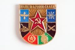 Ikone mit Emblemen von verschiedenen Arten von Truppen und sagt Lizenzfreie Stockfotografie