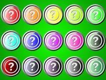 Ikone mit Fragezeichen Stockbild