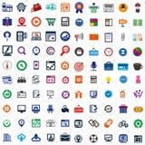 Ikone mit 100 Geschäften Lizenzfreie Stockfotos