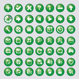 Ikone mit grünem Kreisvektor Stockfotografie