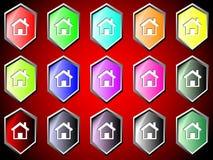 Ikone mit Haus Lizenzfreie Stockbilder