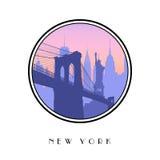 Ikone New York City vektor abbildung