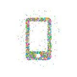 Ikone Smartphonekreise Lizenzfreies Stockbild