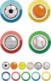 Ikone - Sportkugel Lizenzfreies Stockbild