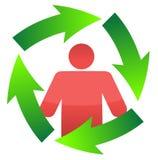 Ikone um eine kontinuierliche Bewegungsschleife lizenzfreie abbildung