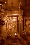 Ikone unserer Dame von Bethlehem stockfotografie