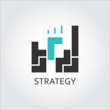 Ikone von Bausteinen Logik, Analyse, Strategiekonzept Lizenzfreies Stockfoto