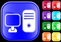 Ikone von einem Personal-Computer Lizenzfreie Stockfotografie