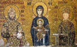 Ikone von Jungfrau Maria und von Heiligen im Innenraum des Hagia Sophia I Lizenzfreie Stockfotos