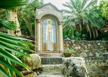 Ikone von Mary Magdalene auf dem Kloster Mary Magdalene Stockfoto