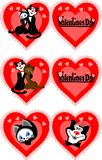 Ikone zum Valentinstag stock abbildung