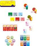 Ikonen über das Einkaufen Lizenzfreie Stockbilder
