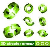 Ikonen 3D: Pfeile stock abbildung