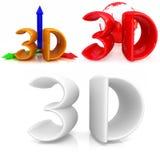 Ikonen 3d von 3d Lizenzfreie Stockfotografie