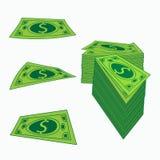 Ikonen-Amerikanerspirale Anmerkungen und Banknoten KonzeptGeschäftsgewinn Eine Illustration auf weißem Isolierungshintergrund Lizenzfreie Stockfotografie