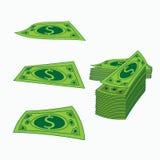 Ikonen-Amerikanerspirale Anmerkungen und Banknoten KonzeptGeschäftsgewinn Eine Illustration auf weißem Isolierungshintergrund Zu  Lizenzfreies Stockfoto