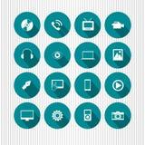 Ikonen auf Aqua Lizenzfreie Stockbilder