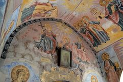 "Ikonen Bachkovo-Kloster ""Assumption heiligen Virginâ€- lizenzfreies stockfoto"