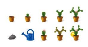 Ikonen bildeten ââof Wachstum Kaktus Stockbild