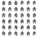 Ikonen bringen unter, vector Illustration Lizenzfreie Stockfotos