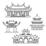 Ikonen-Chinese-Haus stock abbildung