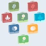 Ikonen der acht Portfolios Lizenzfreie Stockbilder