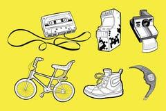 Ikonen der Achtziger Jahre Stockbild
