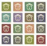 Ikonen der Affegefühle einfach Lizenzfreie Stockfotografie