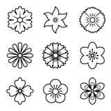 Ikonen der Blumen Lizenzfreie Stockfotografie