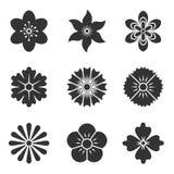 Ikonen der Blumen Lizenzfreie Stockfotos