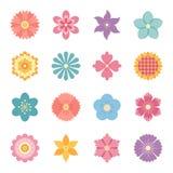 Ikonen der Blumen Stockbild