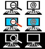 Ikonen der Computerüberwachungsgeräte Lizenzfreie Stockfotos