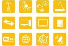 Ikonen der drahtlosen Technologie Stockbilder
