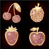 Ikonen der Frucht Stockbild