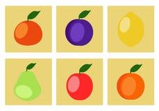 Ikonen der Frucht Lizenzfreie Stockfotografie