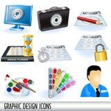 Ikonen der grafischen Auslegung Stockfotografie