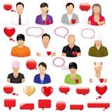 Ikonen der Leute vektor abbildung