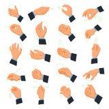 Ikonen der Männer Hand lizenzfreie abbildung