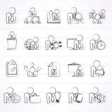 Ikonen der menschlichen Ressource und des Geschäfts Lizenzfreie Stockfotos