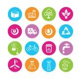 Ikonen der sauberen Energie Lizenzfreies Stockbild